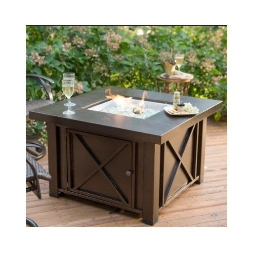 Fire Pit Table Outdoor Propane Gas Patio Heater Furniture Fireplace Backyard New