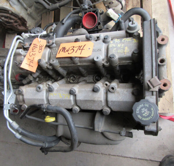 2.4L ENGINE 1996 96 ACHIEVA CAVALIER SKYLARK SUNFIRE GRAND AM VIN T MOTOR  97 98