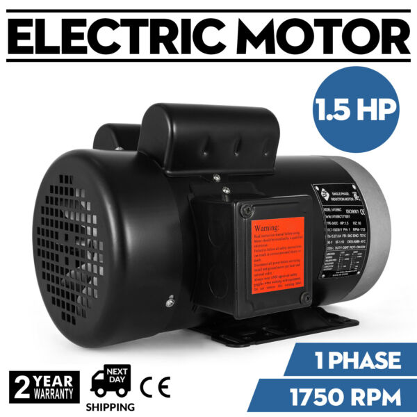 1.5 HP Single Phase Farm Duty Electric Motor 56C Frame 1750 RPM TEFC