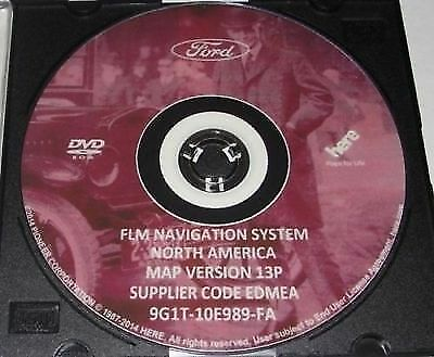 LATEST Ford Lincoln Mercury 13P Navigation GPS Road Map System Update DVD .