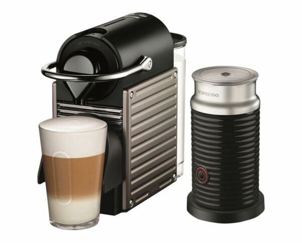 Nespresso by Breville Pixie Espresso Maker Bundle with Aeroccino Frother in