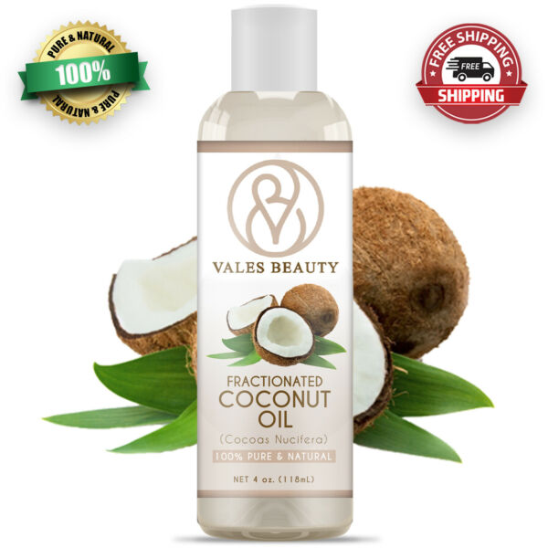 Fractionated Coconut Oil 4oz 100% Natural For Aromatherapy Skin Hair amp; Massages $7.99