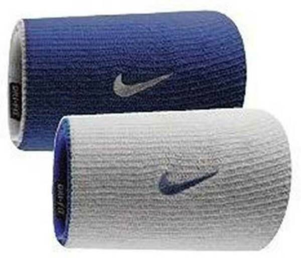 Nike Dri-FIT Home & Away Doublewide Reversible Wristbands Assorted Colors