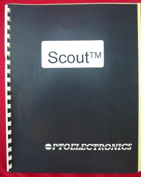 SCOUT Model 40 Handheld Frequency Counter Operator's Manual Version 3.0