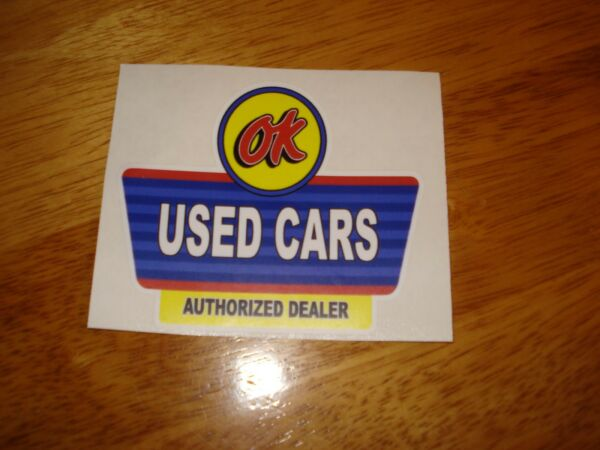 OK  USED CARS  ** WINDSHIELD DECAL**