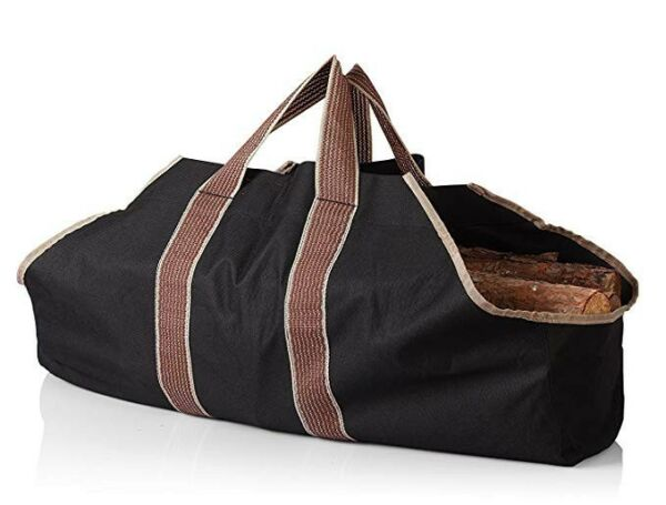 Firewood Log Carrier Canvas Wood Tote Water Resistant Carrier Bag