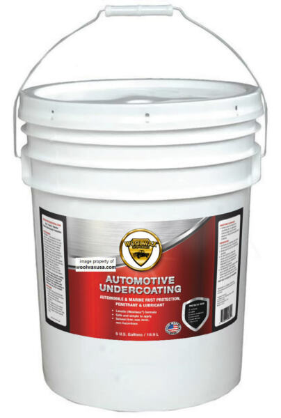 WOOLWAX™ Auto Lanolin THICK Undercoating. 5 gallon pail. . STRAW(clear) color.
