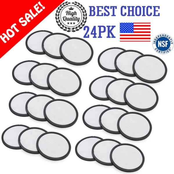 12 24Pk Mr Coffee Machines Activated Charcoal Water Filter Cartridge Parts US