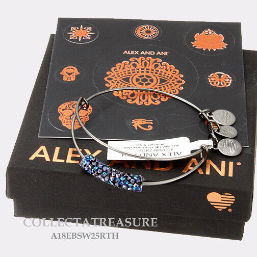 Authentic Alex and Ani Fine RocksMermaid Tail Mid Silver Expandable Bangle