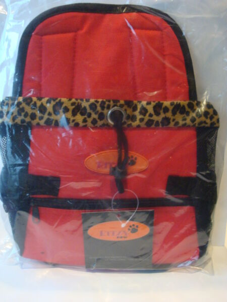 Ritzy Paw Designer Pet Carrier Red amp; Black New With Tags $18.95