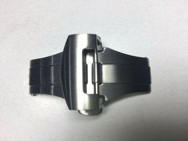 22MM DEPLOYMENT CLASP BUCKLE FOR PANERAI 24MM FIT LEATHER RUBBER BAND STRAP $22.00