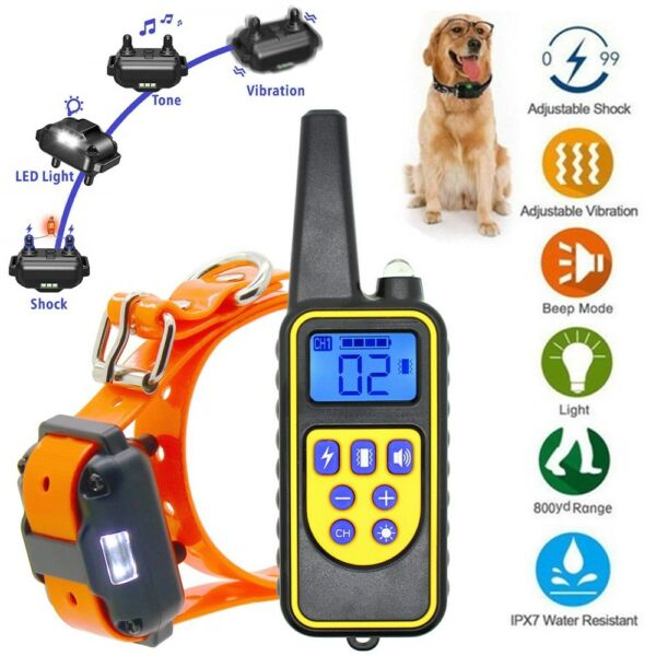 Rechargeable 2600 FT Remote Dog Training Shock Collar Waterproof Hunting Trainer $26.87