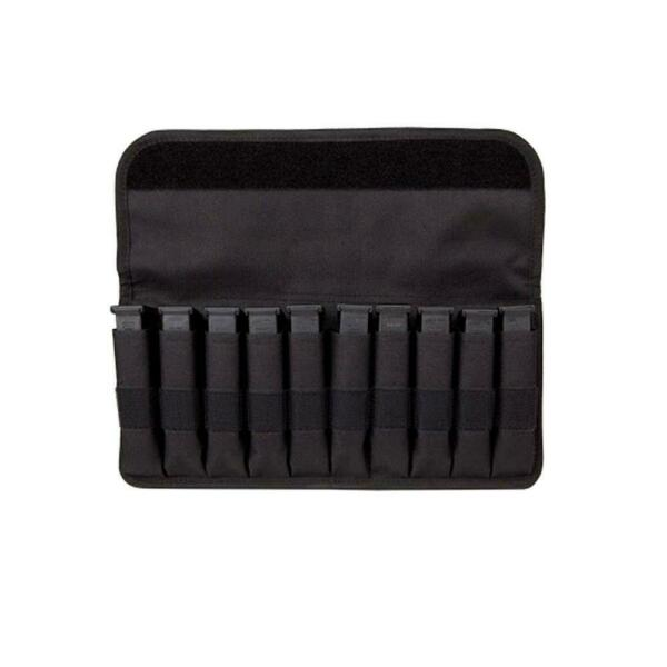 Bastion Magazine Pouch Organizer With Sleeves Covered Holds 10 Mag for Glock $14.99