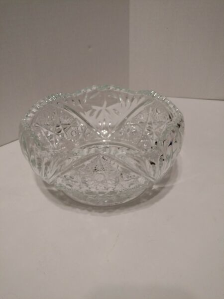Heritage Heavy Glass Serving Bowl by Smith Sawtooth Edge 7