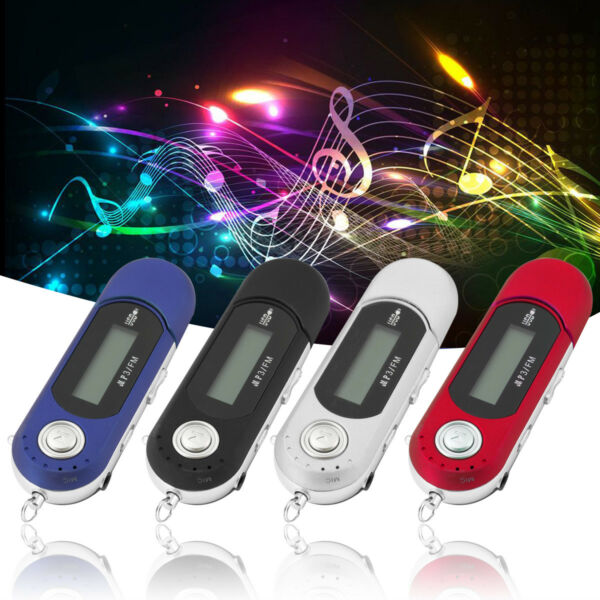 Portable USB MP3 Player Digital LCD Screen Support 32GB TF Card
