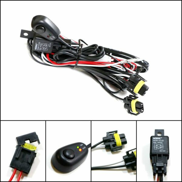 Winjet Universal Wiring Harness Include Switch Kit Car Auto Fog Lights Lamp...