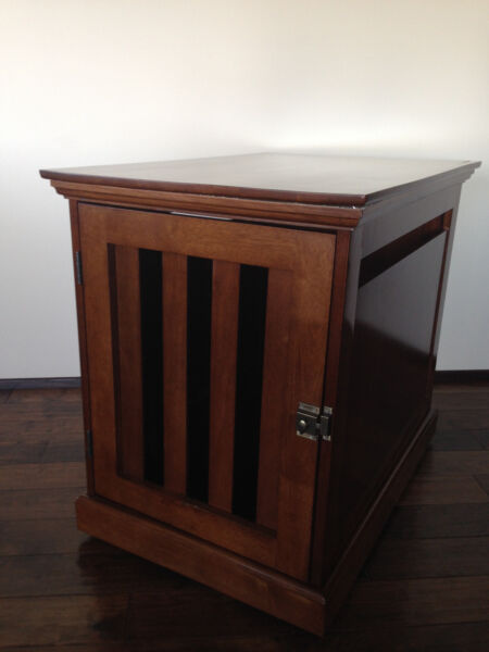 Finest DenHaus Wood Dog Crate Furniture. Dog Kennel. LARGE
