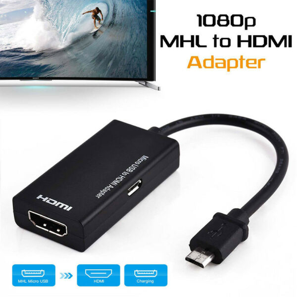 1Pc Micro USB 5Pin To HDMI HD Adapter Cables Connector Wire For Android