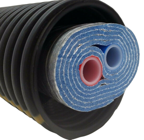 Outdoor Wood Boiler Five Wrap Insulated 1quot; Oxygen Barrier Pex Tubing Pipe $2725.00