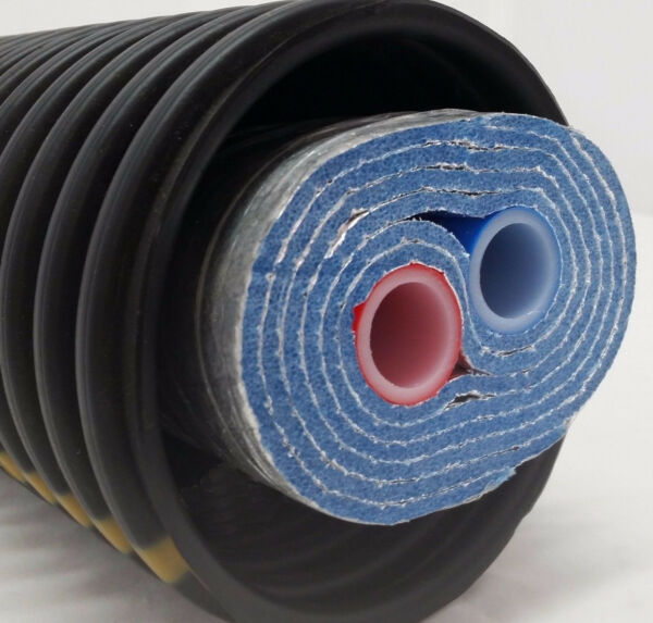 Outdoor Wood Boiler Five Wrap Insulated 3 4quot; Oxygen Barrier Pex Tubing Pipe $2170.00