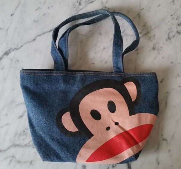 PAUL FRANK JULIUS MONKEY MINI DENIM TOTE BAG