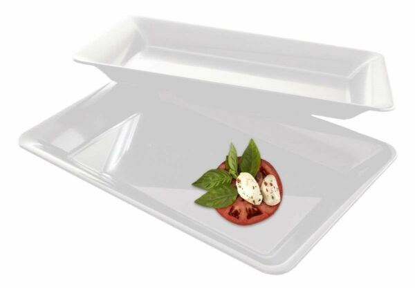 5 Rectangle Plastic Trays Heavy Duty Plastic Serving Tray Party Platters 10 x 14