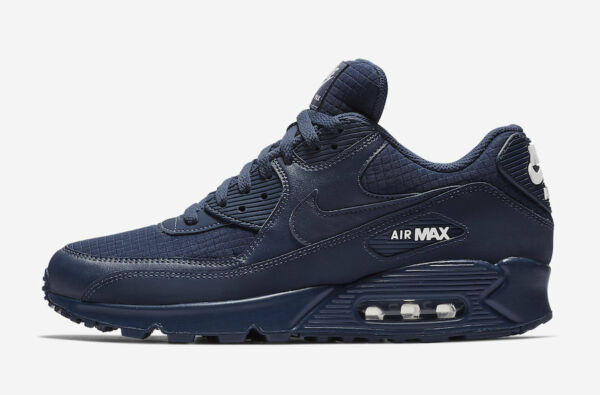 New Men's Nike Air Max 90 Essential Shoes (AJ1285-404)  Midnight Navy / White