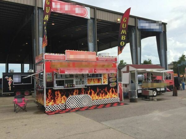 8' x 18' TURNKEY Business Concession Trailer Mobile Kitchen for Sale in Texas!!!