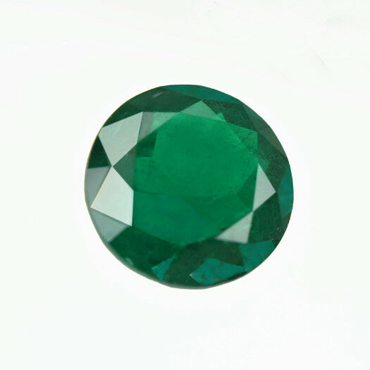 Certified 3.03 ct Zambia Natural Emerald Round ~ 10 mm Loose Gemstone 204_VIDEO