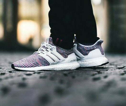 Adidas Running Ultra Boost 4.0 White MULTICOLOR Men Sneaker Gym Shoes New CM8111