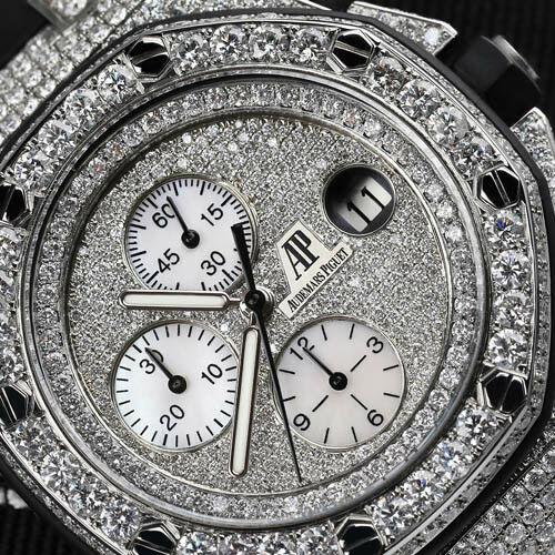Audemars Piguet Royal Oak Offshore with Custom Set Diamonds 26170ST.OO.1000ST.09