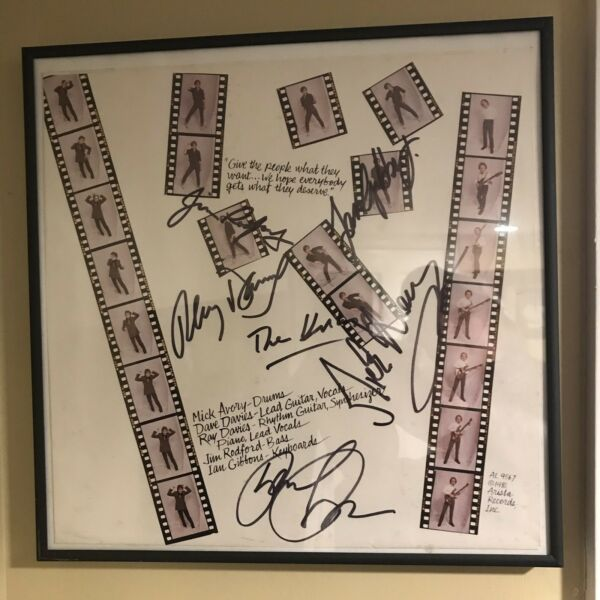 KINKS autographed ALBUM sleeve GIVE the PEOPLE what THEY want Ray Davies Dave 💥