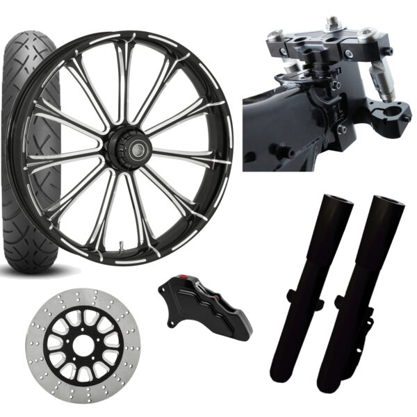 RC 26 Exile Eclipse Wheel Tire Neck Rake Front End Package Harley Single Side