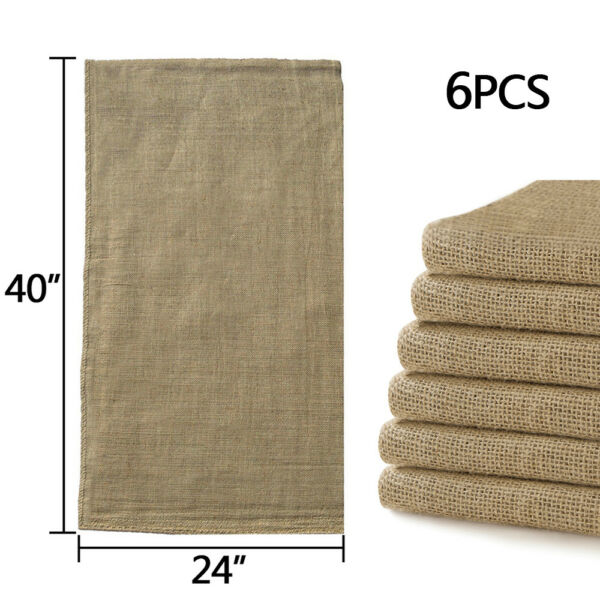 6pcs Linen Burlap Jute Bag Heavy Duty Potato Game Sack Gunny Race Bags 24quot;x40quot;