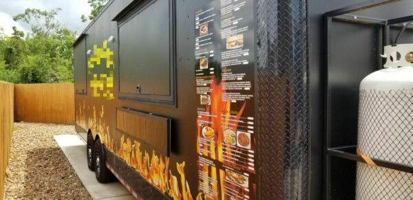 8.5' x 28' BBQ  Food Concession Trailer Mobile Kitchen for Sale in Texas!!!