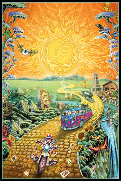 Grateful Dead Golden Road Music Art Print Poster - 24x36