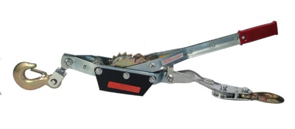 4 TON WINCH COME ALONG 2 Hooks Dual Ratchet Gear HEAVY DUTY Over 8000 Lbs $30.99