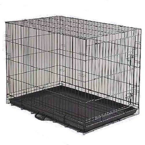 DOG CRATE 24x17x20quot; Medium Pet Kennel Cage Folding Portable Travel Metal $39.99