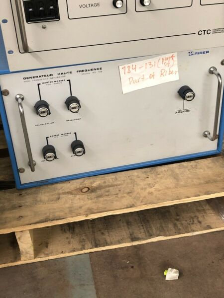Generateur Haute Frequence High Frequency Generator Riber Model AQ 156