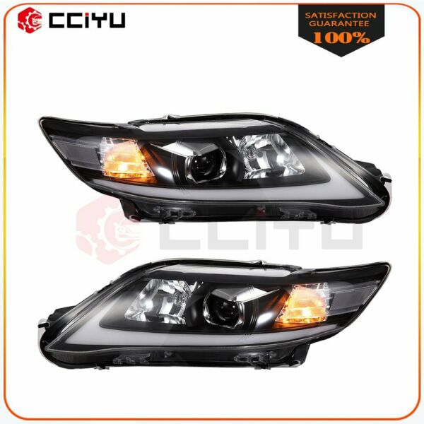 For 2010-2011 Toyota Camry Headlight Assembly Chrome Front Lights DRL LED Lamp