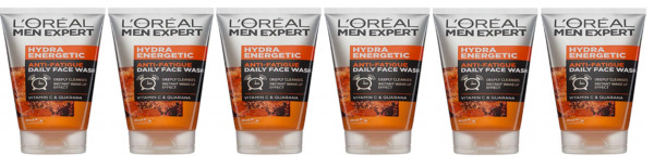 Loreal Mens Expert Hydra Energetic Anti Fatigue Daily Face Wash 5.07 oz (6 Pack)