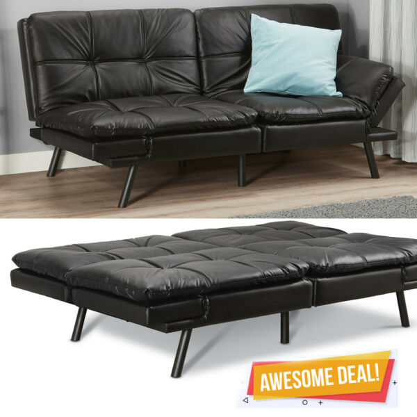 Memory Foam Futon Sofa Bed Couch Sleeper FULL Size Convertible Foldable Loveseat $198.95