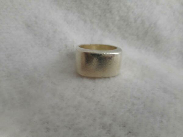 925 sterling 9mm wide squared ring band size 5.5 13 grams $23.00
