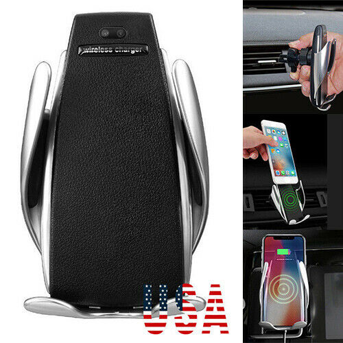 Rotate Automatic Clamping Wireless Car Charger Receiver Mount Fr iPhone Samsung