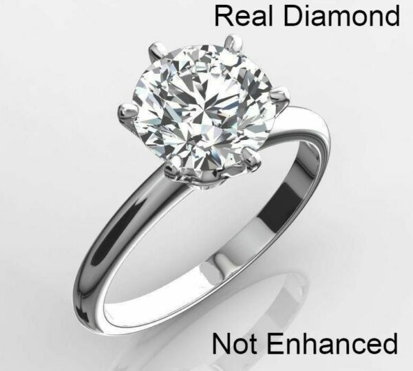 2 CT REAL NATURAL DIAMOND ENGAGEMENT RING ROUND CUT D SI1 14K WHITE GOLD