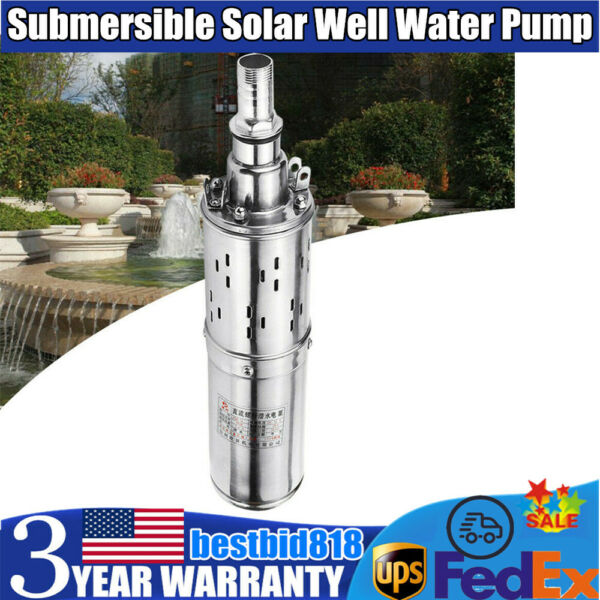 Submersible Deep Solar Well Water 12V DC Pump Solar Energy Water Pump 180W New