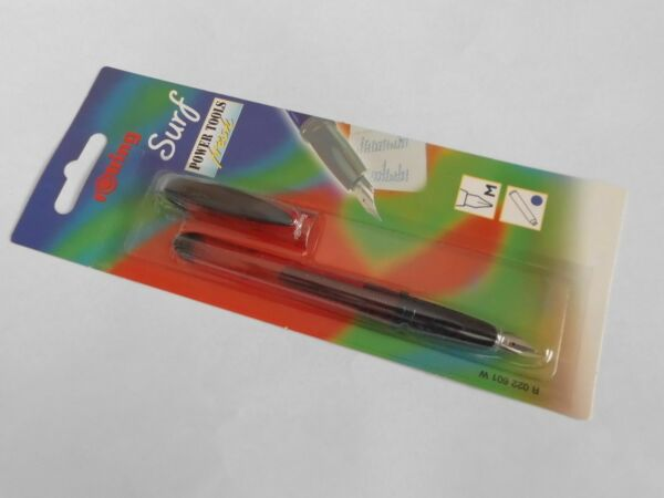 Rotring Fountain Pen Surf Translucent Red Fountain Pen Medium Pt New In Pk