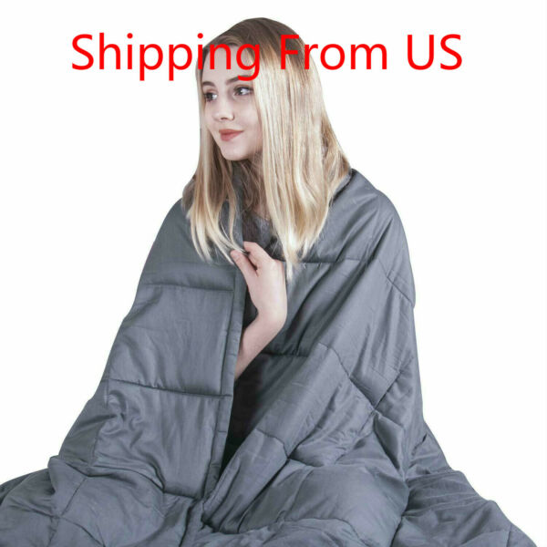 Cooling King Size Weighted Blanket (25 lbs80''x87'') for Adults Premium Cotton