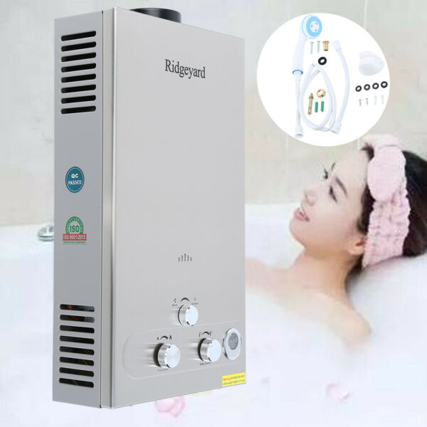 3.2 GPM Tankless LPG Gas Home Hot Water Heater Bathroom 12L Instant Boiler $89.69