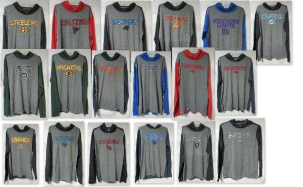 Mens Frequency Hooded T-Shirts ~Various NFL Teams~ Various Sizes~ A1 1852